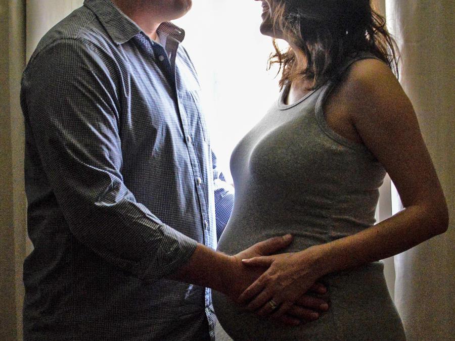 Pareja esperando un bebé