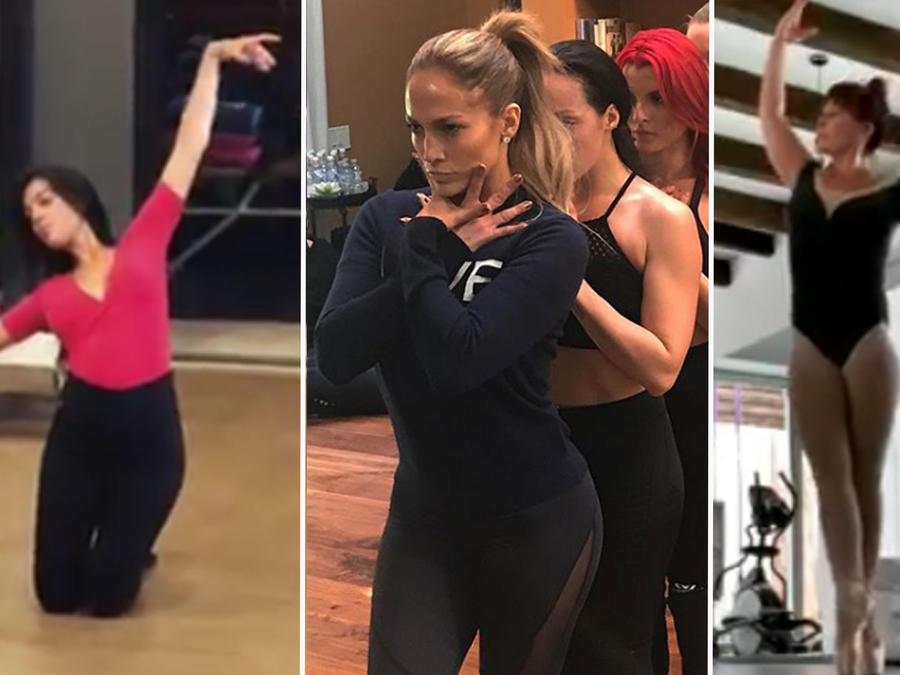 Collage famosas bailando