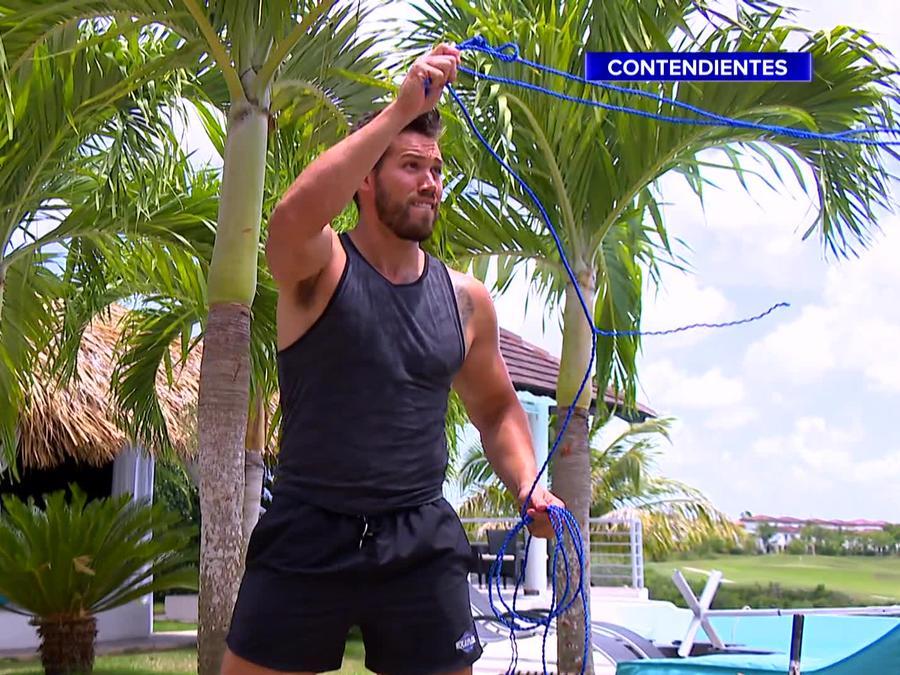 Tavo González entrena con cuerda
