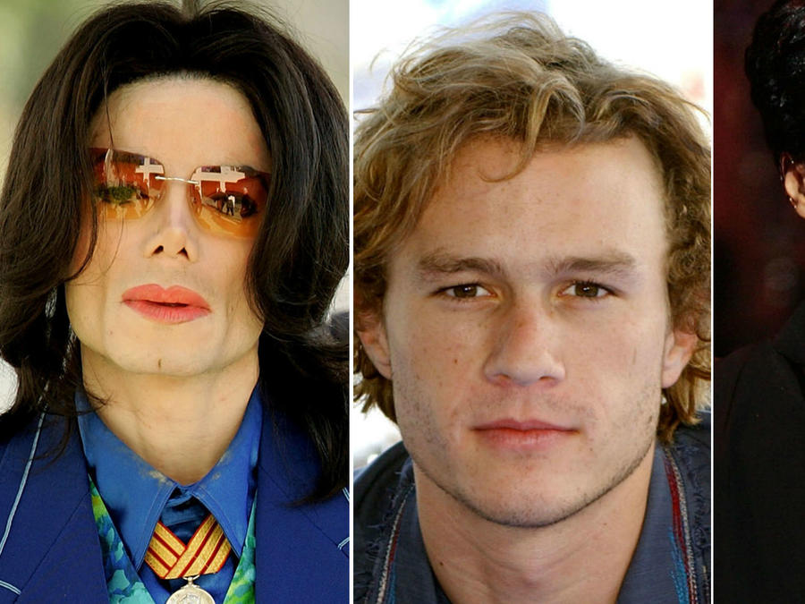 Michael Jackson, Heath Ledger y Prince