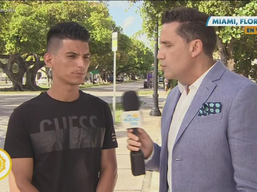 Joven cubano al que le otorgaron asilo político
