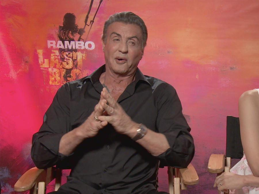 "Watch Sylvester Stallone and Yvette Monreal from ""Rambo: Last Blood"" Translate Spanish Phrases"