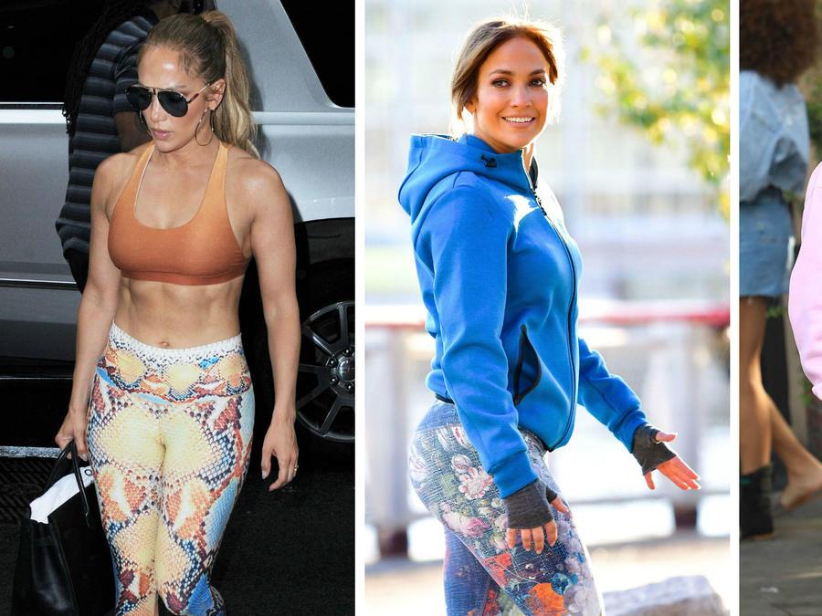 Jennifer Lopez usando leggings