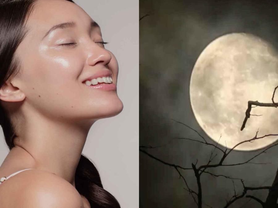 Belleza y luna llena