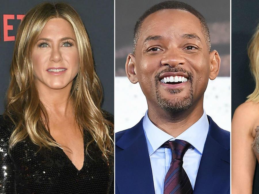 Jennifer Aniston, Will Smith y Scarlett Johansson