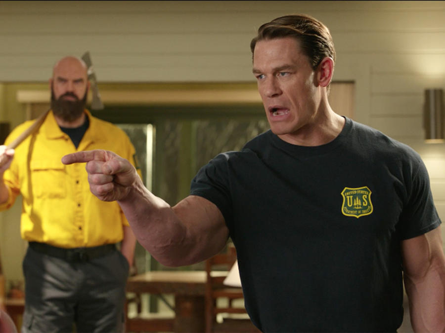 "Watch this exclusive clip for ""Playing with Fire"" with John Cena"