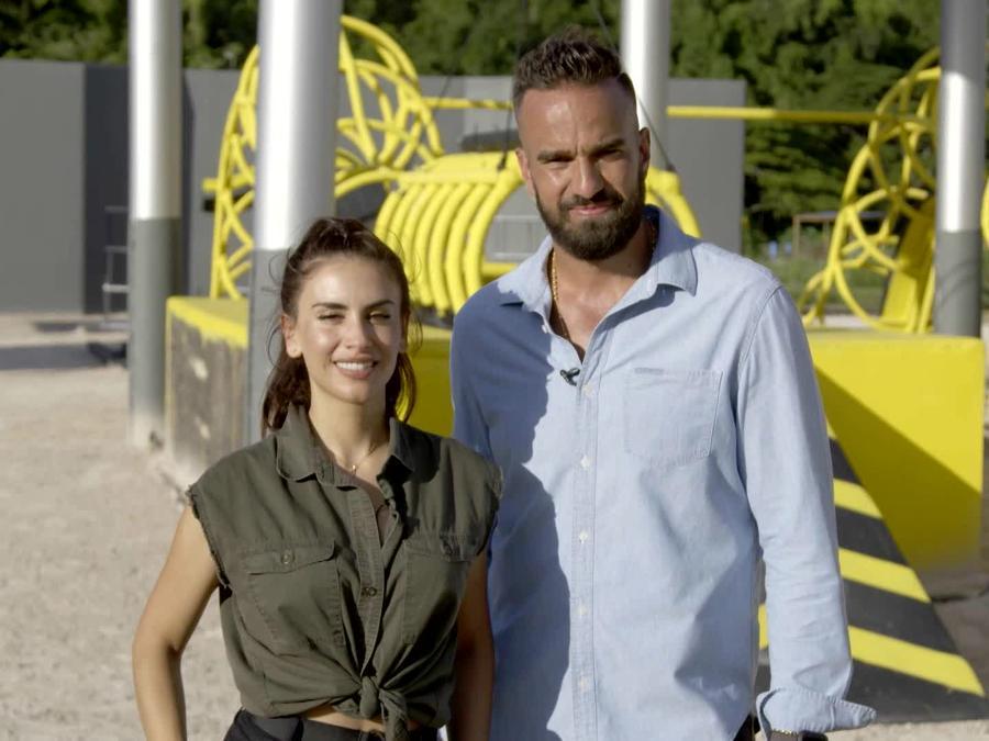 Erasmo y Jessica Cediel en el circuito amarillo