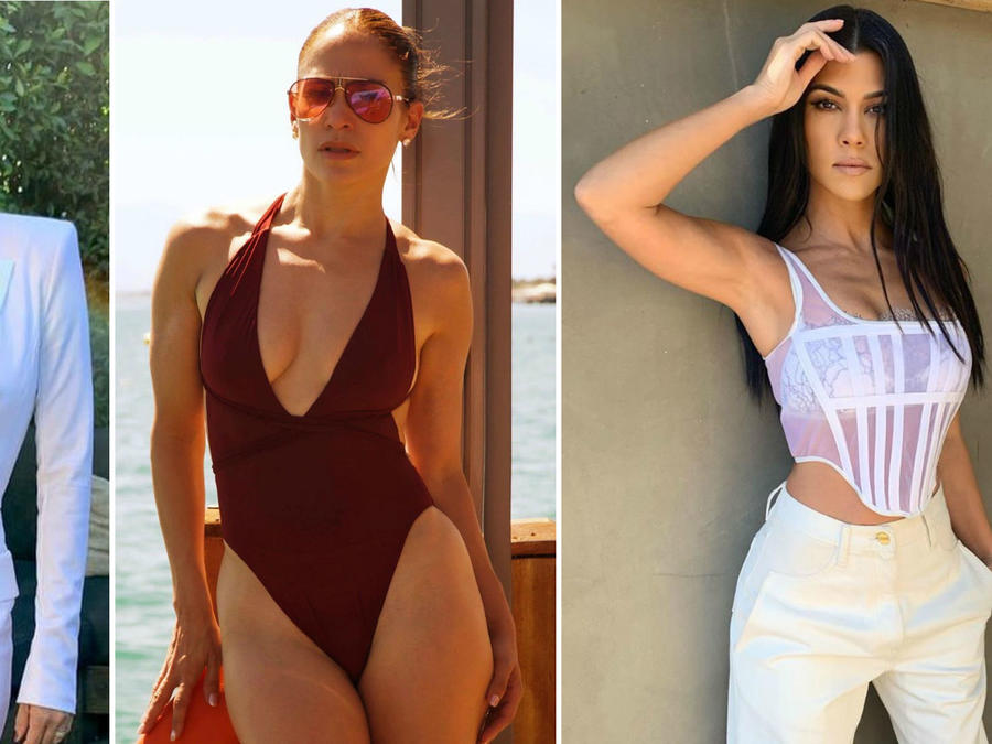 Eva Longoria, JLo y Kourtney Kardashian