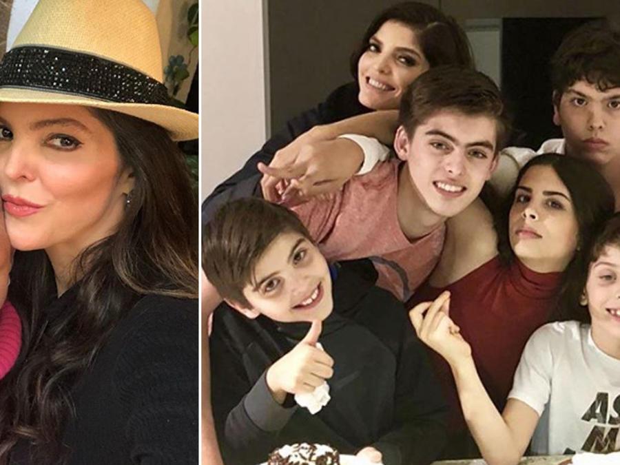 Collage Ana Bárbara y sus hijos