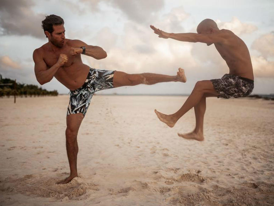 Sebastián Rulli practicando aikido