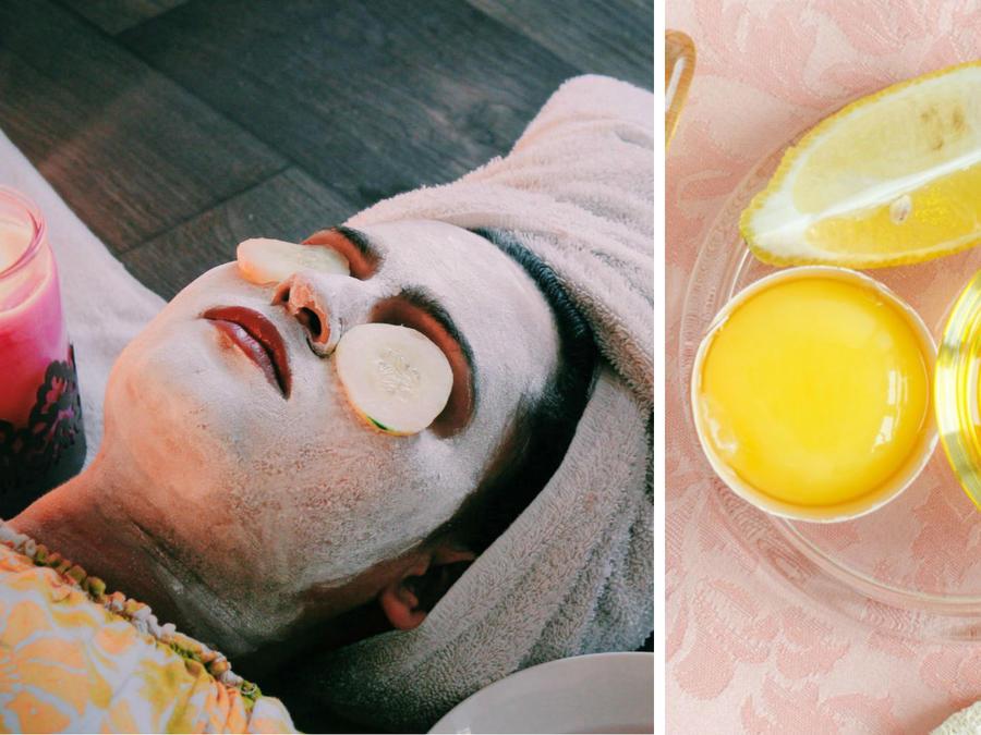 Mujer con mascarilla en la cara