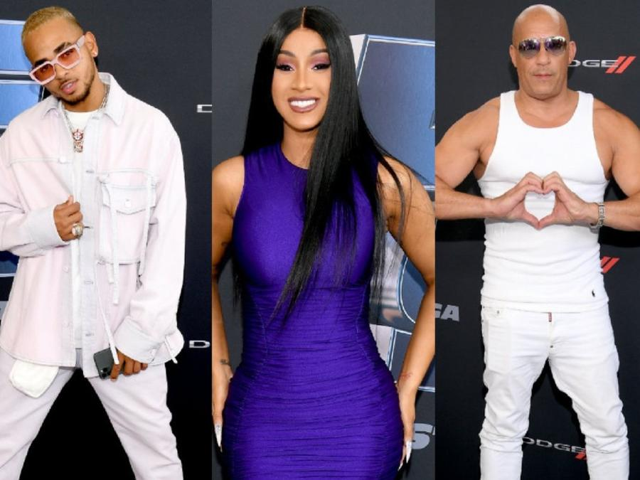 """The """"Fast & Furious 9"""" Red Carpet with Vin Diesel, Cardi B, Ozuna & More Stars"""
