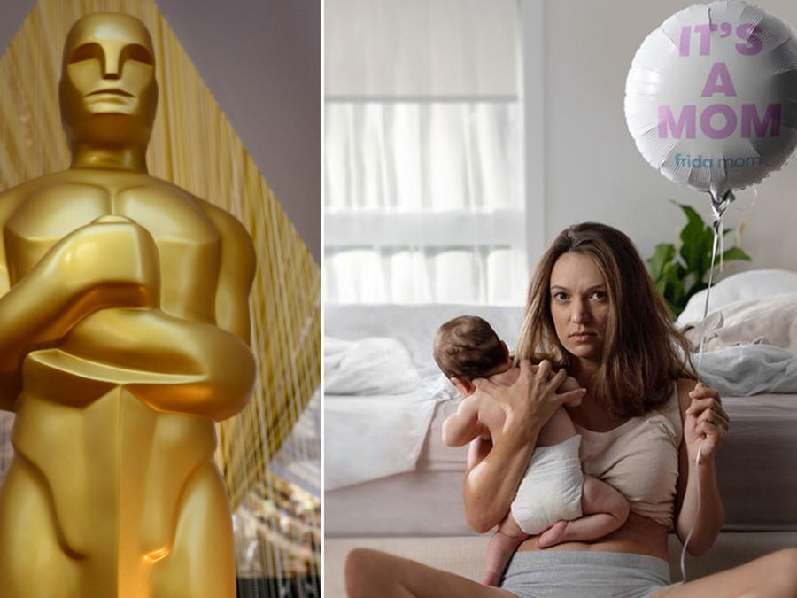 Collage Premios Oscar y Frida Mom