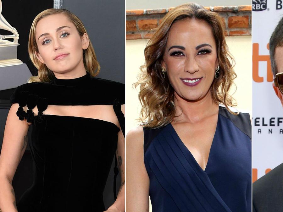 Miley Cyrus, Consuelo Duval y Antonio Banderas