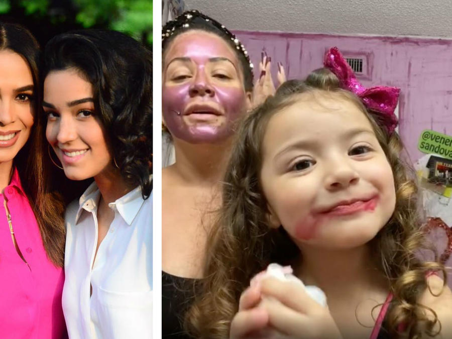 Biby Gaytán, Carolina Sandoval y sus hijas