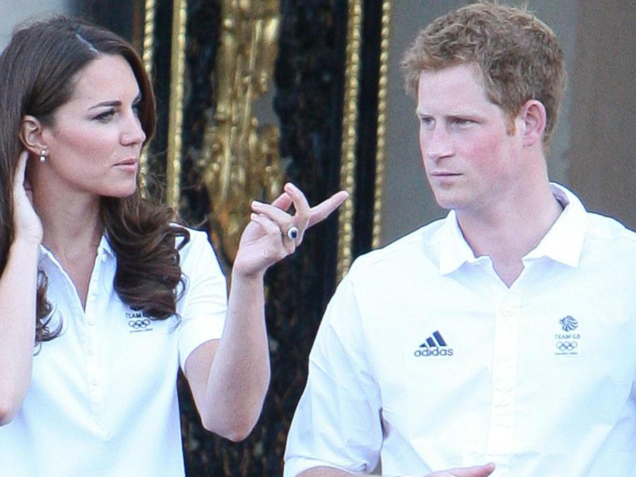 Kate Middleton y el príncipe Harry