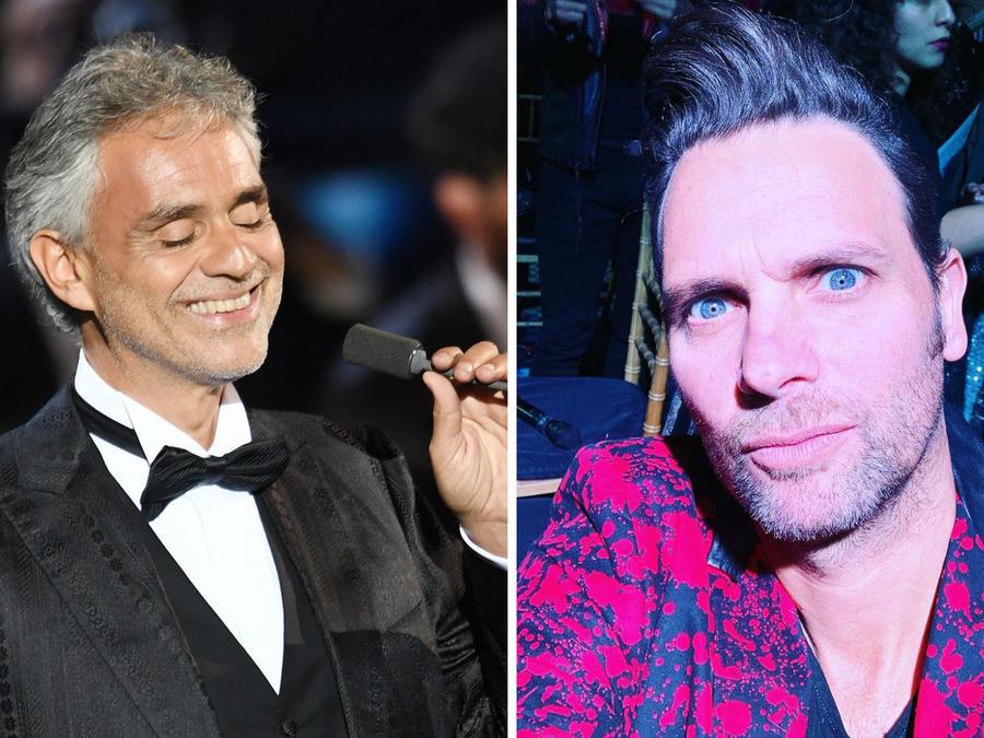 Andrea Bocelli y Patricio 'Pato' Borghetti