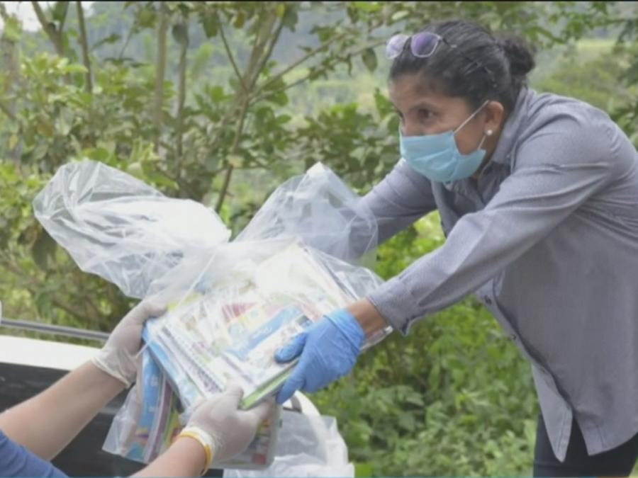 Voluntaria nicaragüense