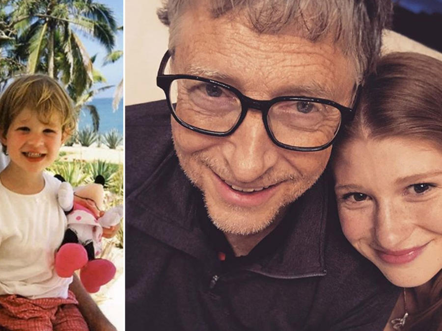 Bill Gates y su hija Jennifer