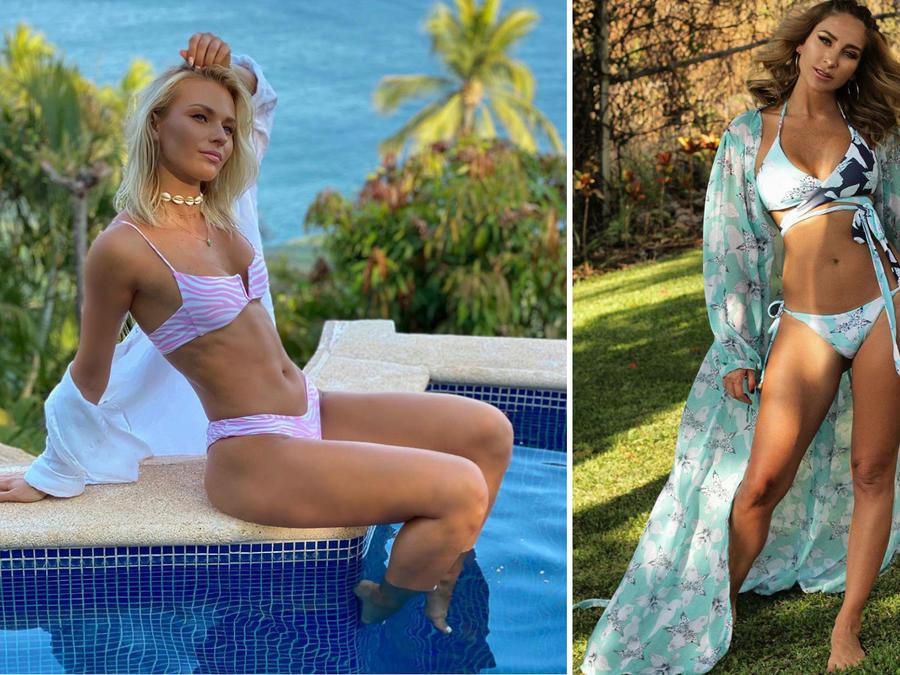 Irina Baeva y Geraldine Bazán en bikini
