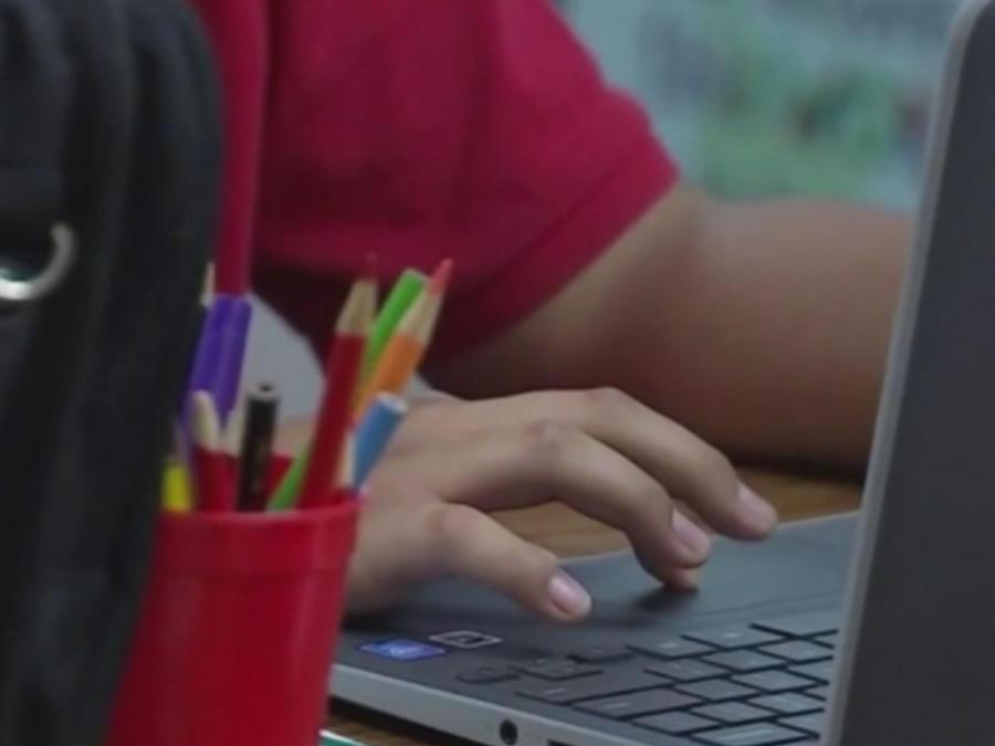 Niño usando la computadora