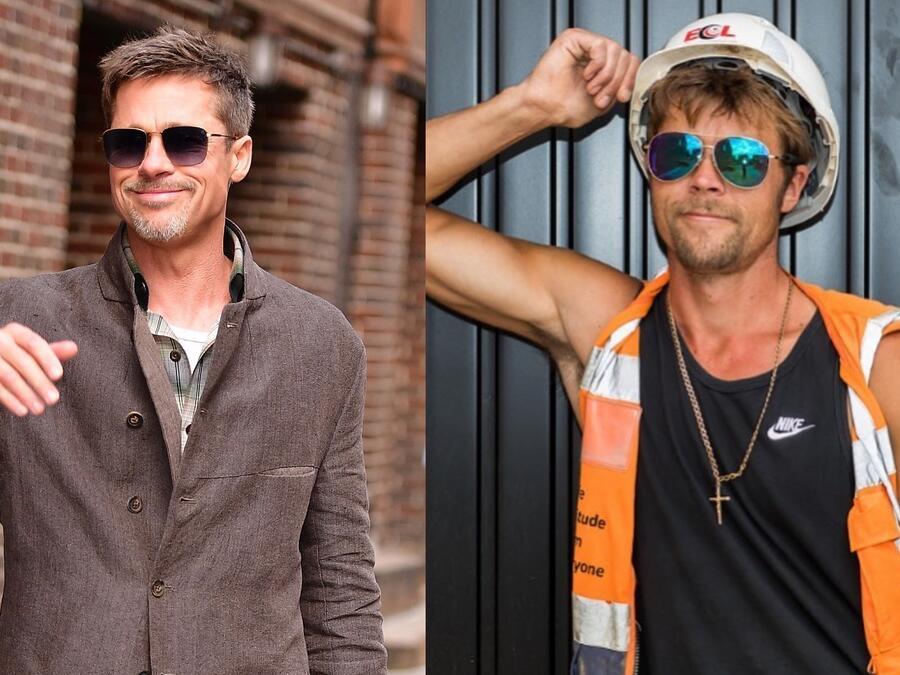 Brad Pitt y Nathan Meads