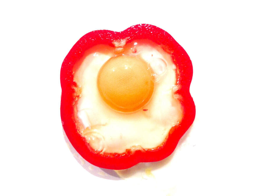 Huevo con pimiento