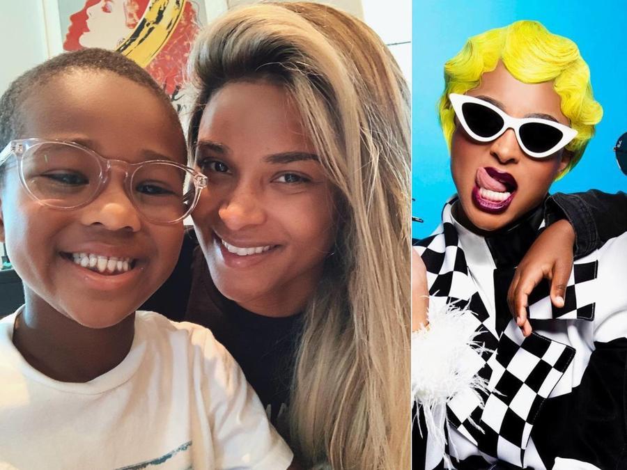 Ciara y su hijo Future con sus disfraces de Cardi B y Offset
