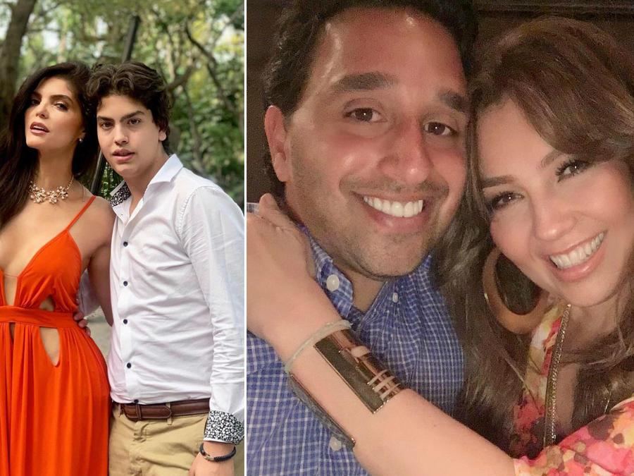 Thalía y Ana Bárbara con sus hijastros