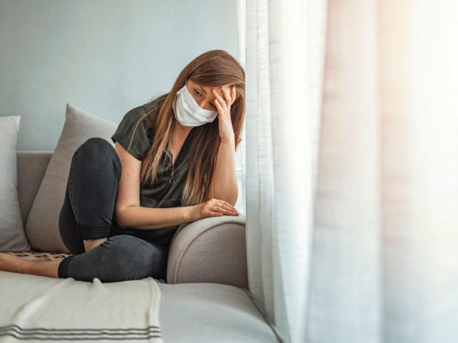 Mujer enferma