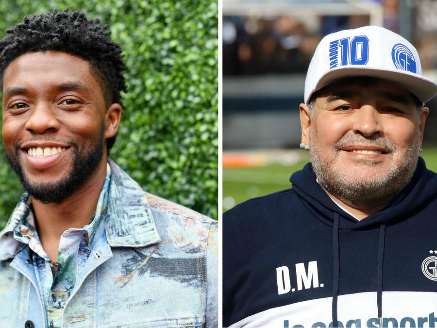 Chadwick Boseman y Maradona