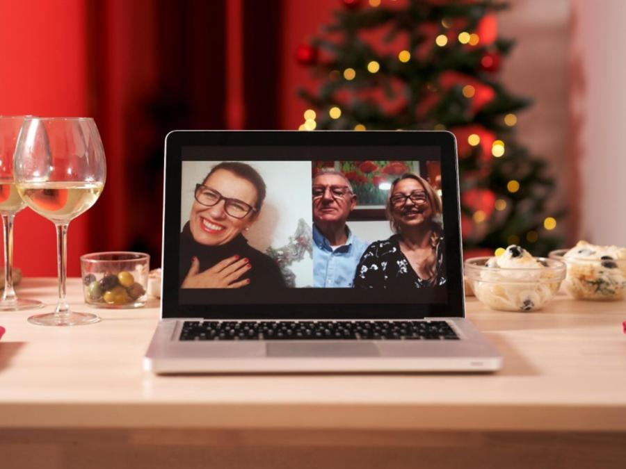 Videollamada navideña