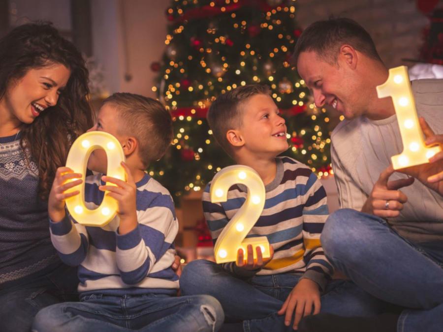 Familia en Año Nuevo