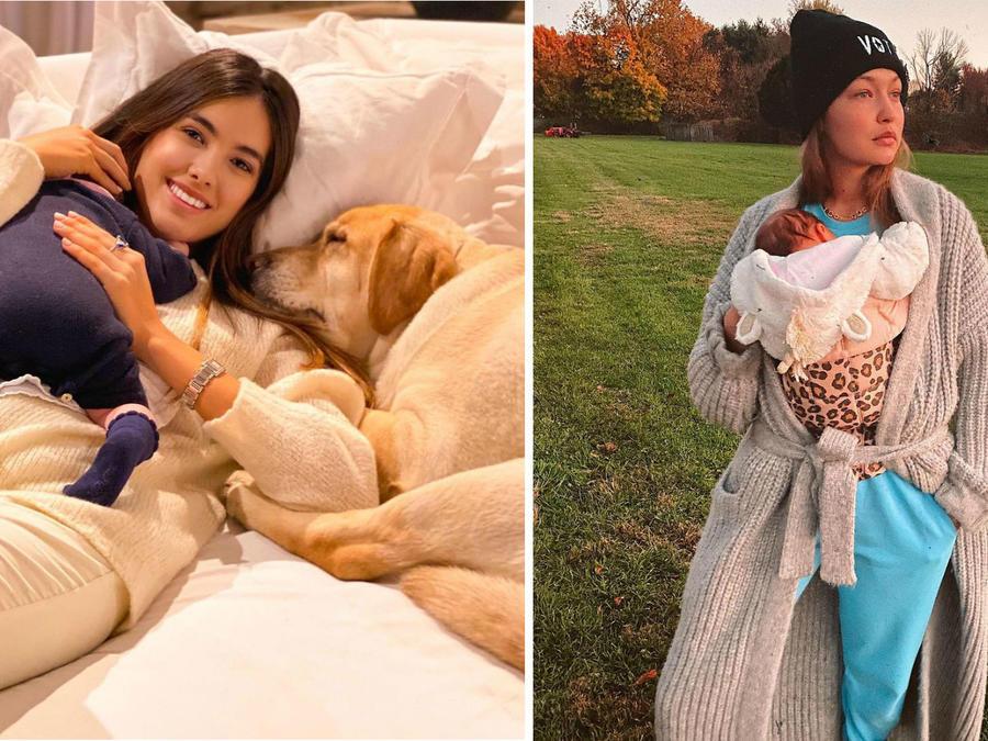 Gigi Hadid y Sharon Fonseca con sus bebés