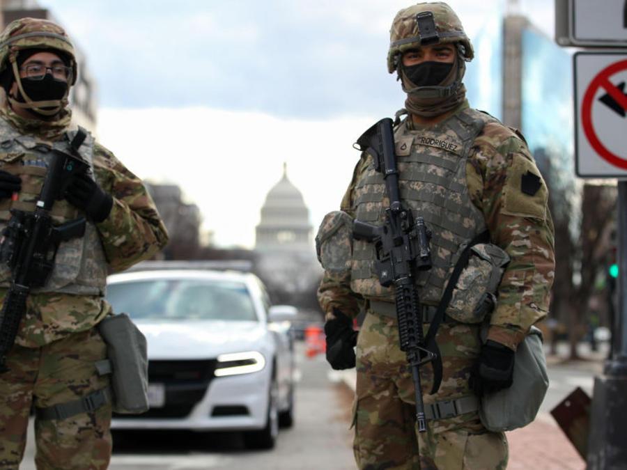 Soldados resguardan Washingron DC