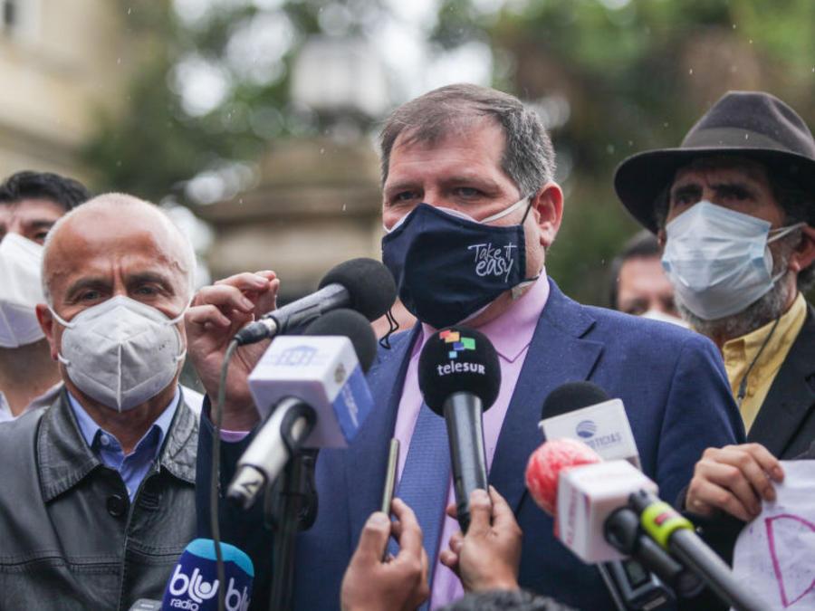 Comité Nacional de Huelga en Colombia habla a la prensa