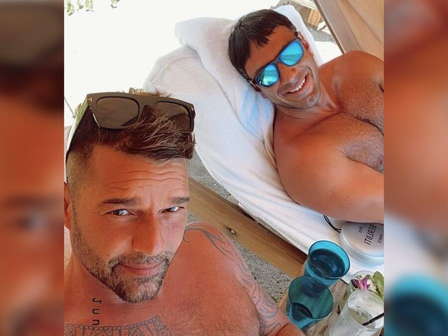 Ricky Martin y Jwan Yosef en Hawái