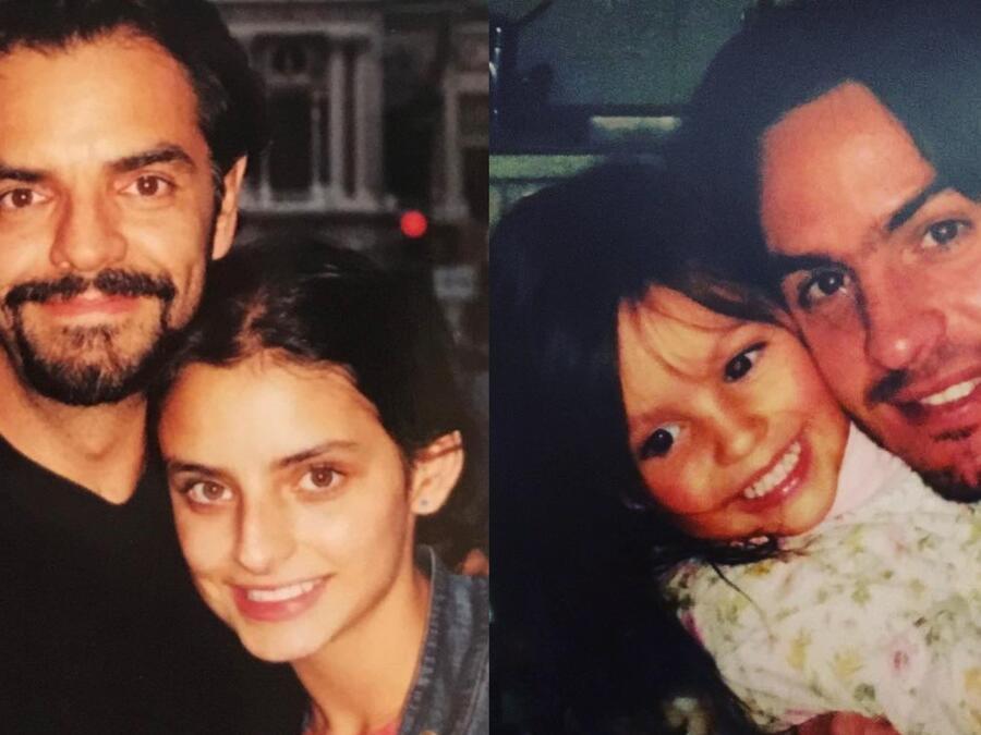Eugenio Derbez  con su hija Aislinn Derbez, Mauricio Ochmann con su hija Lorenza