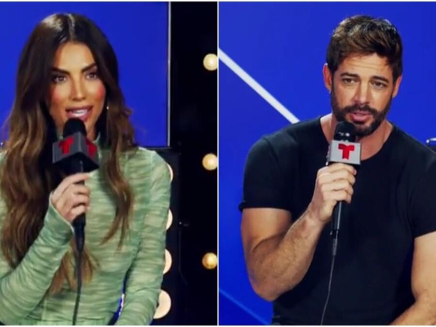 Gaby Espino y William Levy en el backstage de los Premios Billboard de la Música Latina 2021