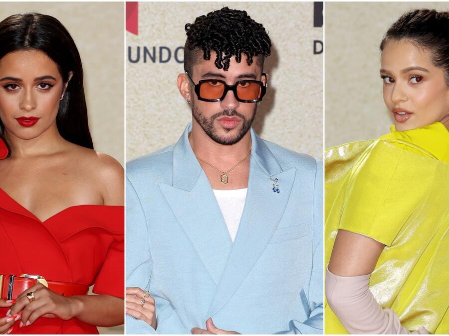 Camila Cabello, Bad Bunny y Rosalía en la alfombra roja de los Premios Billboard de la Música Latina 2021