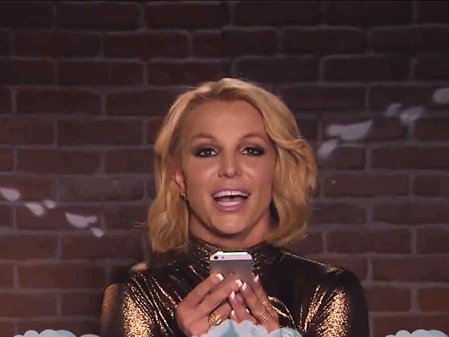 Britney Spears lee tweets ofensivos en Jimmy Kimmel Live!