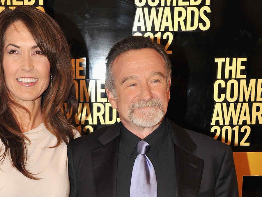 Susan Schneider y Robin Williams.
