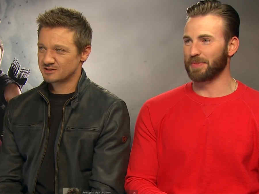Jeremy Renner y Chris Evans