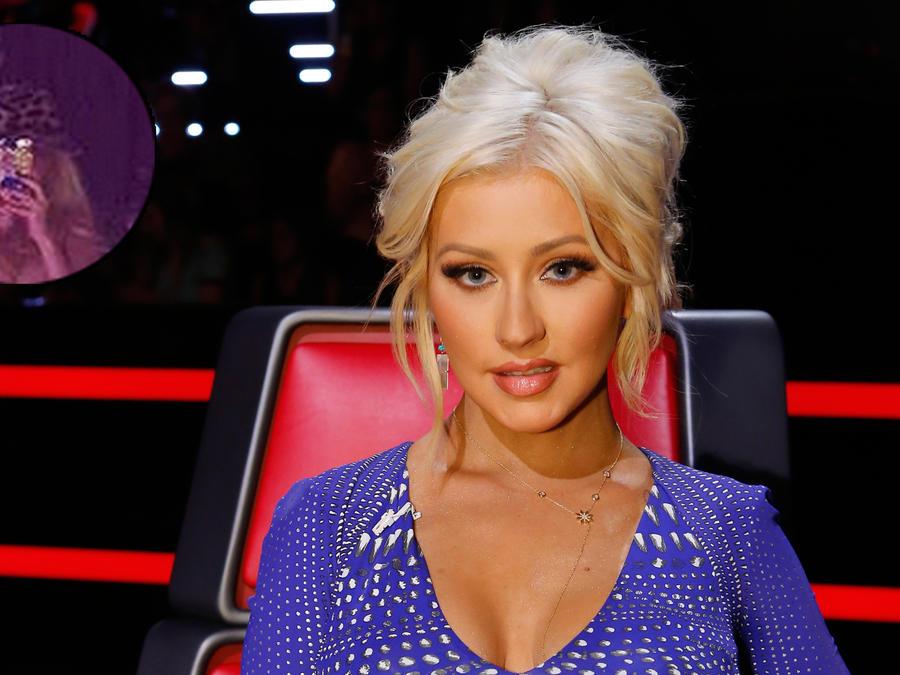Christina Aguilera posa topless