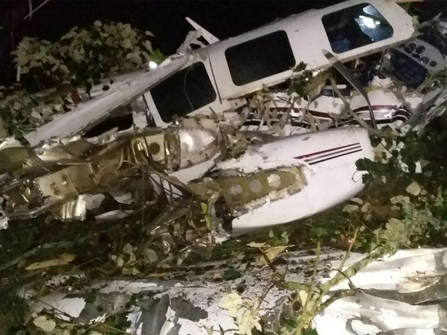 La aeronave regresaba a la ciudad de Medellín después de un día de rodaje.