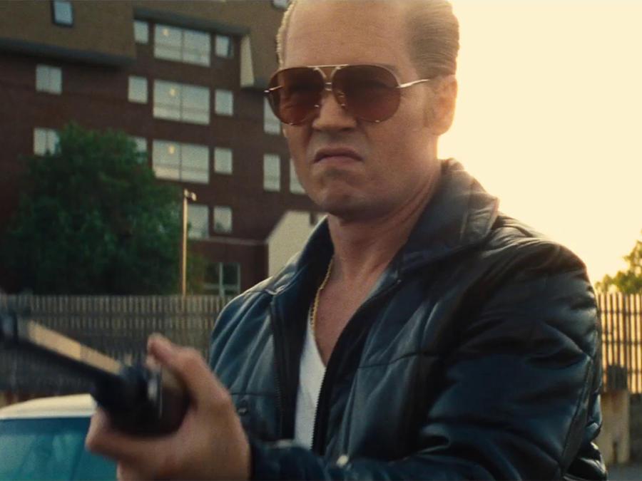 "Johnny Depp en la película ""Black Mass""."