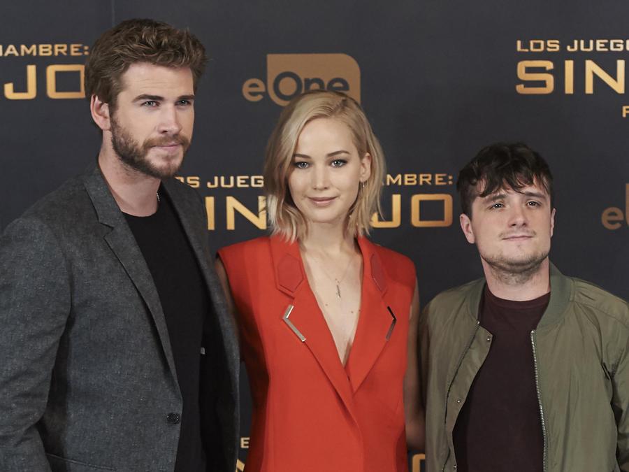 Jennifer Lawrence, Josh Hutcherson y Liam Hemsworth.