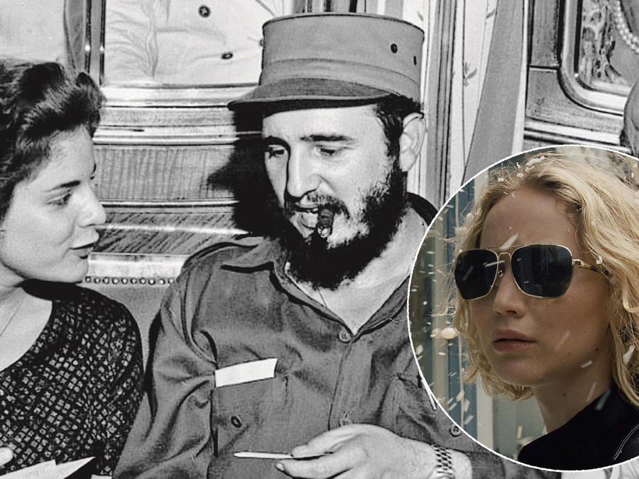 Marita Lorenz y Fidel Castro