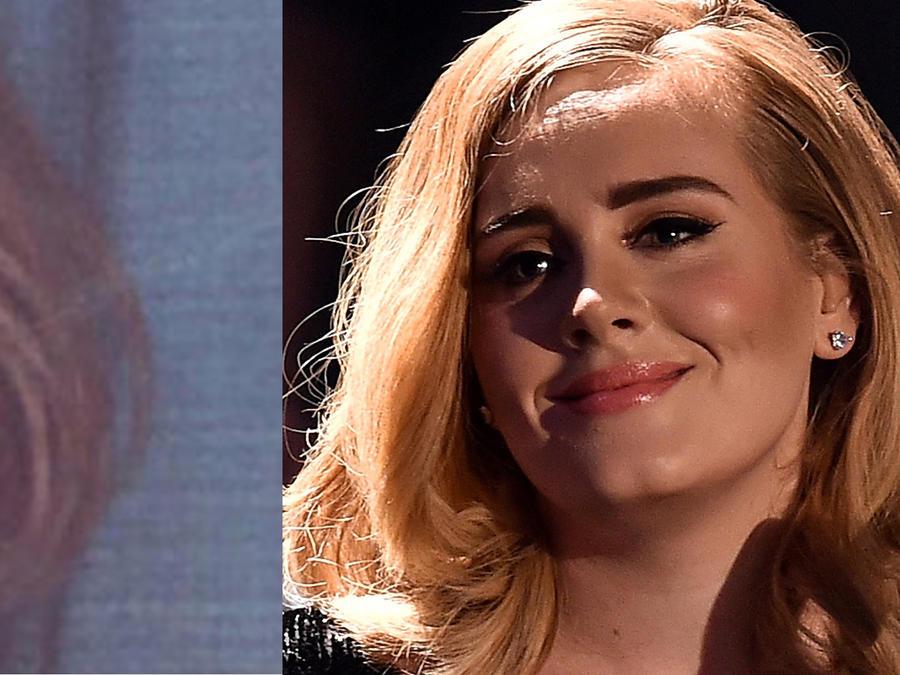 Foto de Adele de niña y ahora