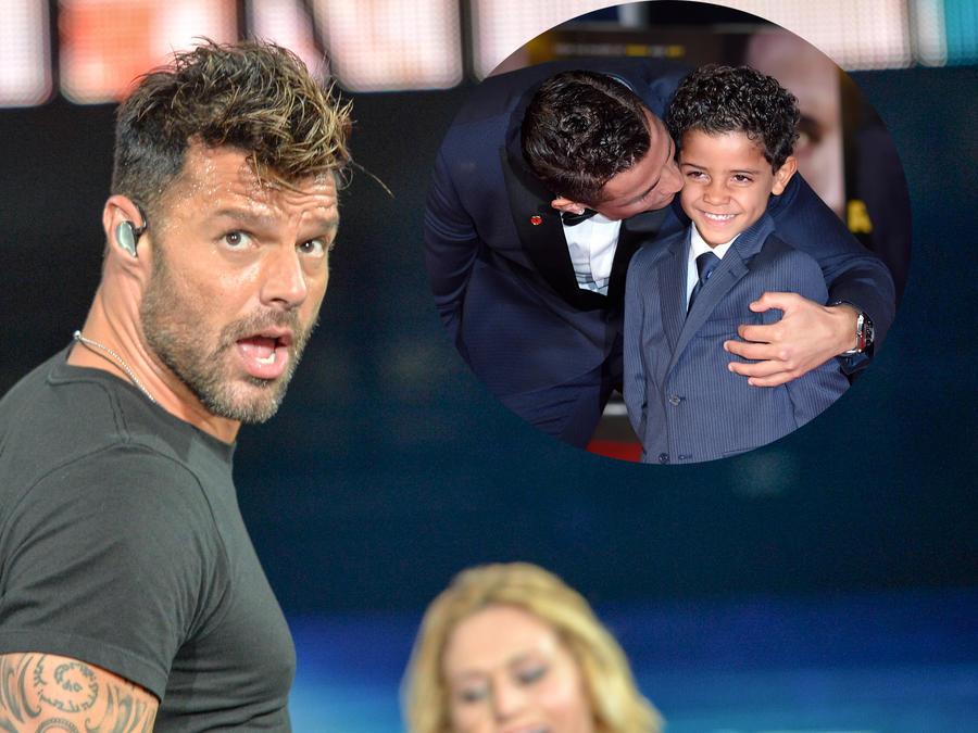 Ricky Martin y Cristiano Ronaldo